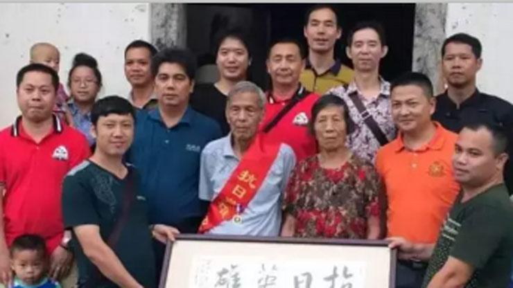 2015年08月29日赴梅州慰问抗战老兵广冉宗亲前辈
